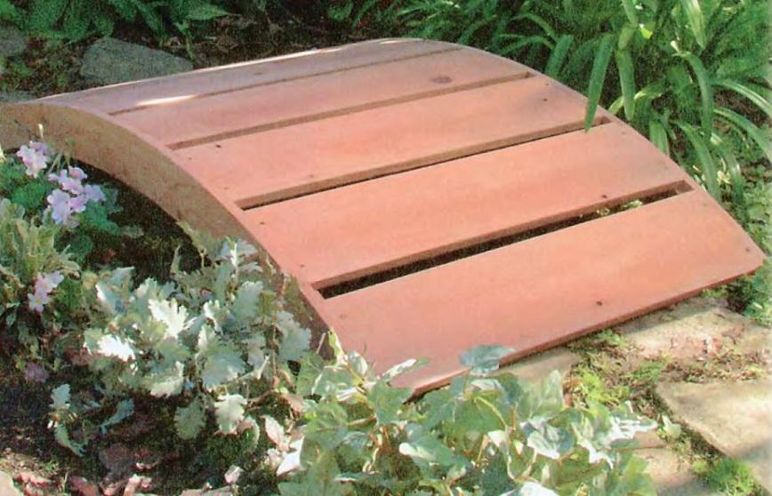 Как сделать простой,декоративный мостик на даче своими руками.