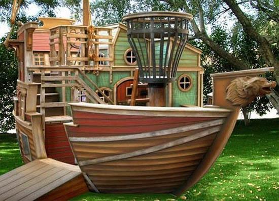 Пиратский корабль для детской площадки своими руками